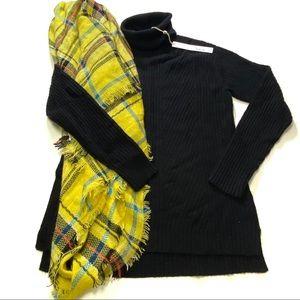 NWT Caslon black turtleneck sweater w/FREE scarf